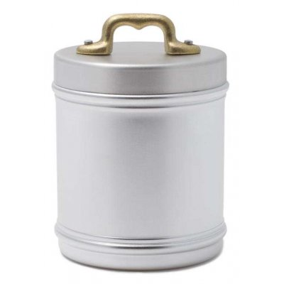 Aluminum Kitchen Jar with Lid and Brass Bridge Handle - cm 10