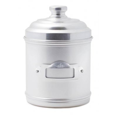 Aluminum Kitchen Jar with Lid and Label Holder cm 13