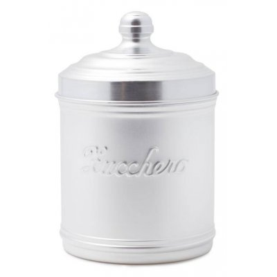 Aluminum Sugar Jar with Lid - Country / Retro Style