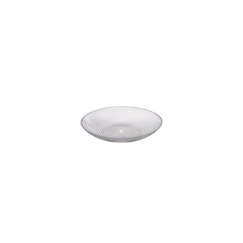Piatto fondo ciotola in vetro lavorato diametro cm 22.